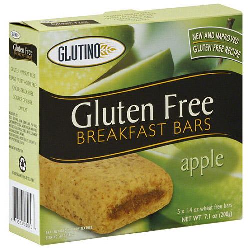 Glutino Gluten Free Apple Breakfast Bars, 5 count, (Pack of 12)