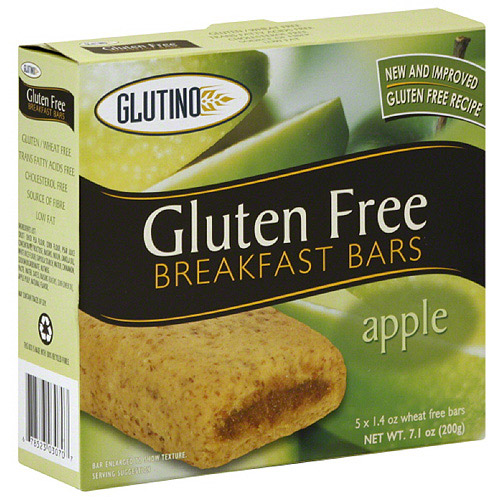 Glutino Gluten Free Apple Breakfast Bars, 5 count, (Pack of 12)