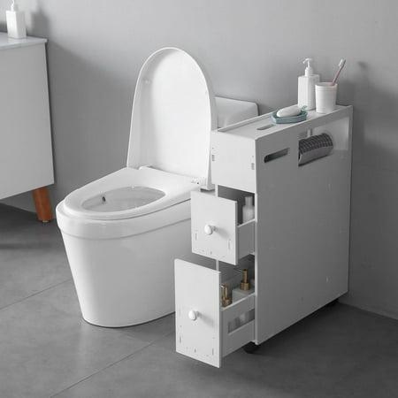 Zimtown Bath Toilet Cabinets Drawers Stand Space Saver Storage Kitchen Bathroom ()