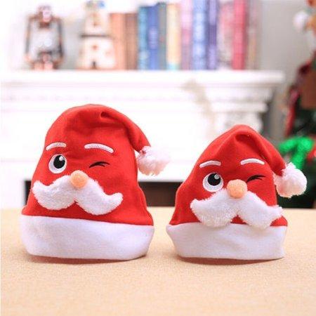 Kid Family Christmas Hat Santa Claus Reindeer Snowman Xmas Party Cap Cute Gift
