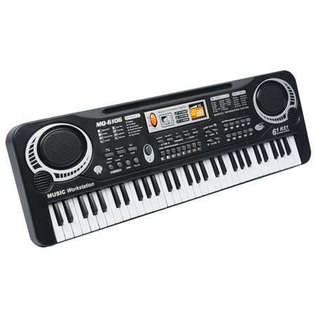 Homeholiday61-key Multi-Function Electronic Piano Microphone Children Educational Music Instrument Toys - image 2 of 7
