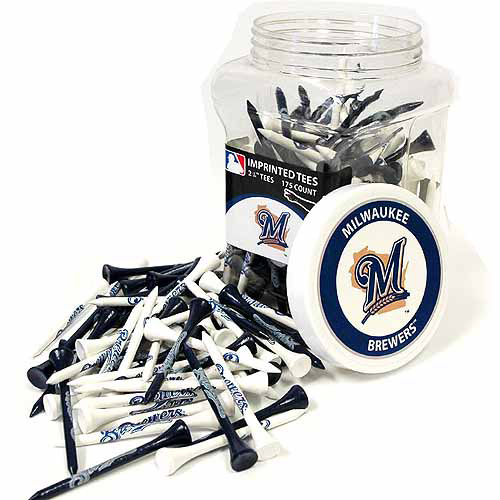 Team Golf MLB Milwaukee Brewers Jar Of 175 Golf Tees