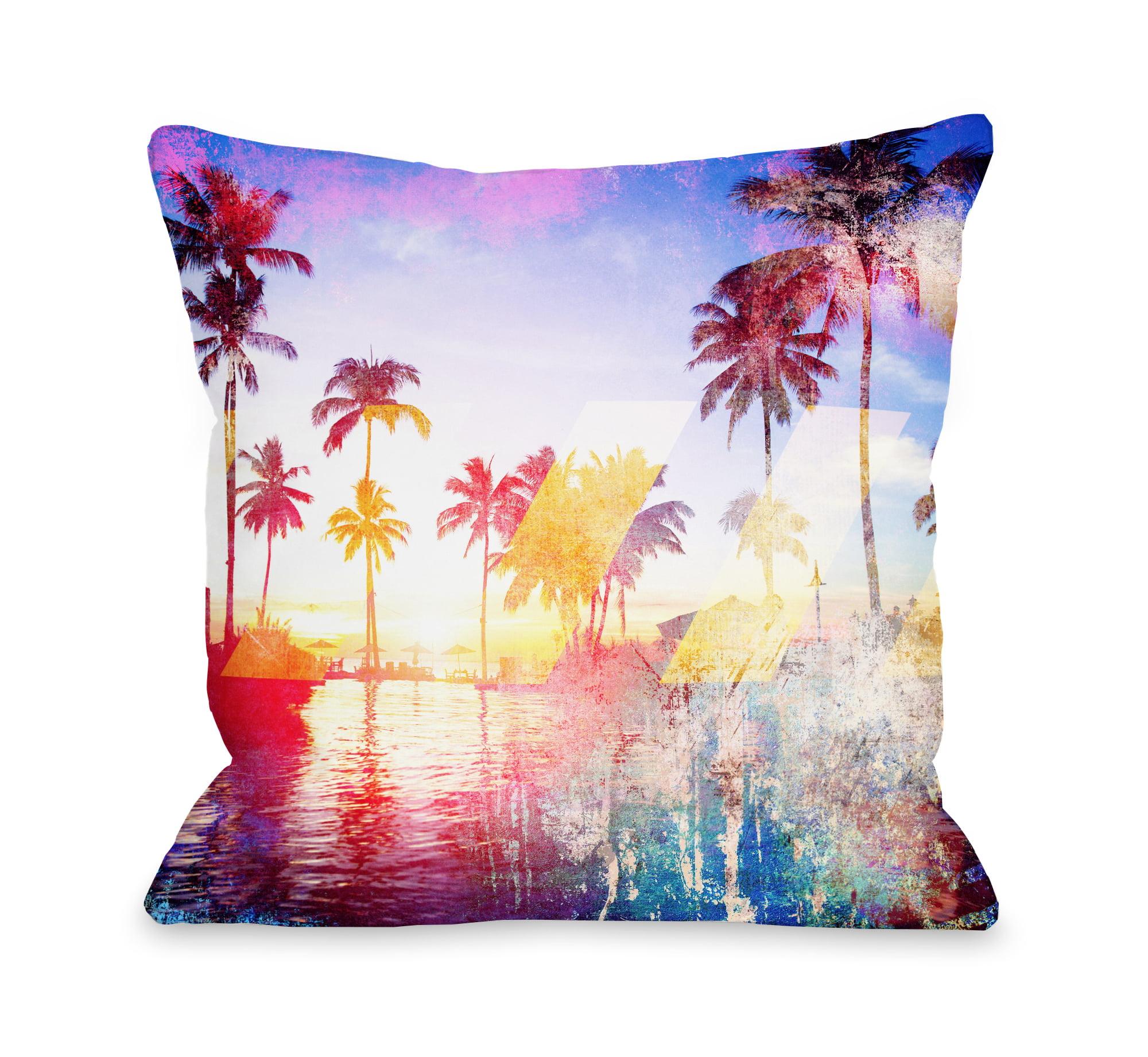 Santa Monica - Multi 18x18 Pillow by OBC