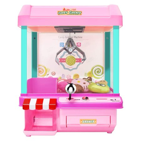 The Toy Grabber Claw Machine for Kids,Indoor Arcade Gams, Ideal for Use with Small Toys / Candy,Features LED Lights and Sound Effects, Mini Candy Claw Toys for 1 2 3 4 5 Year Old Boys Girls Best