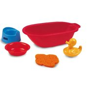 Miniland Educational Corporation Doll Bath Tub with Accessories, Set of 5 Pieces