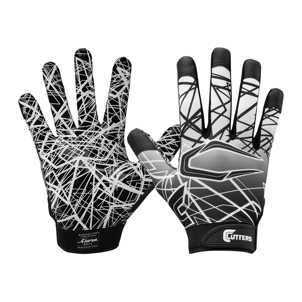Cutters Game Day Football Receiver Glove In Youth & Adult Sizes