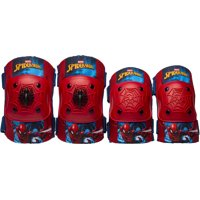 Bell Spiderman Elbow & Knee Pad Set with Bike Bell Value Pack