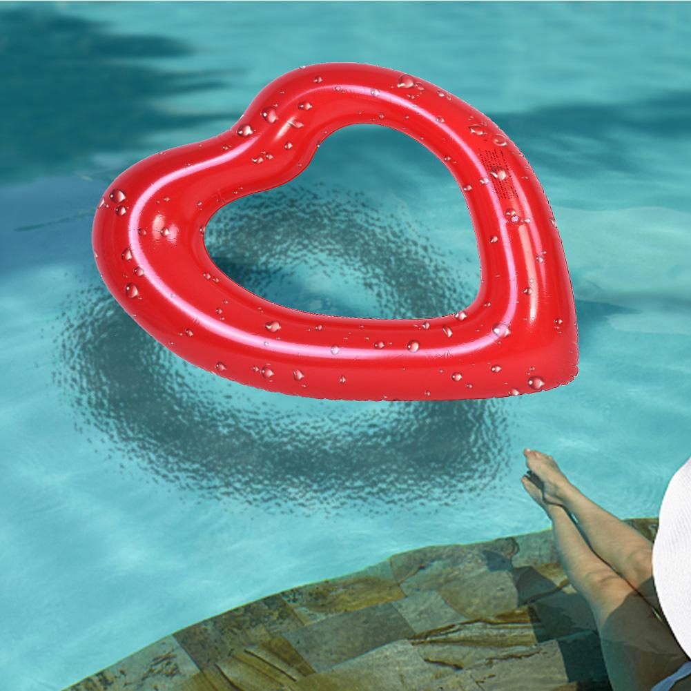 Sonew Swim Ring, Inflatable Swim Ring,Lovely Heart-shaped Inflatable Swim  Swimming Pool Float Ring Toy for Kids Adults