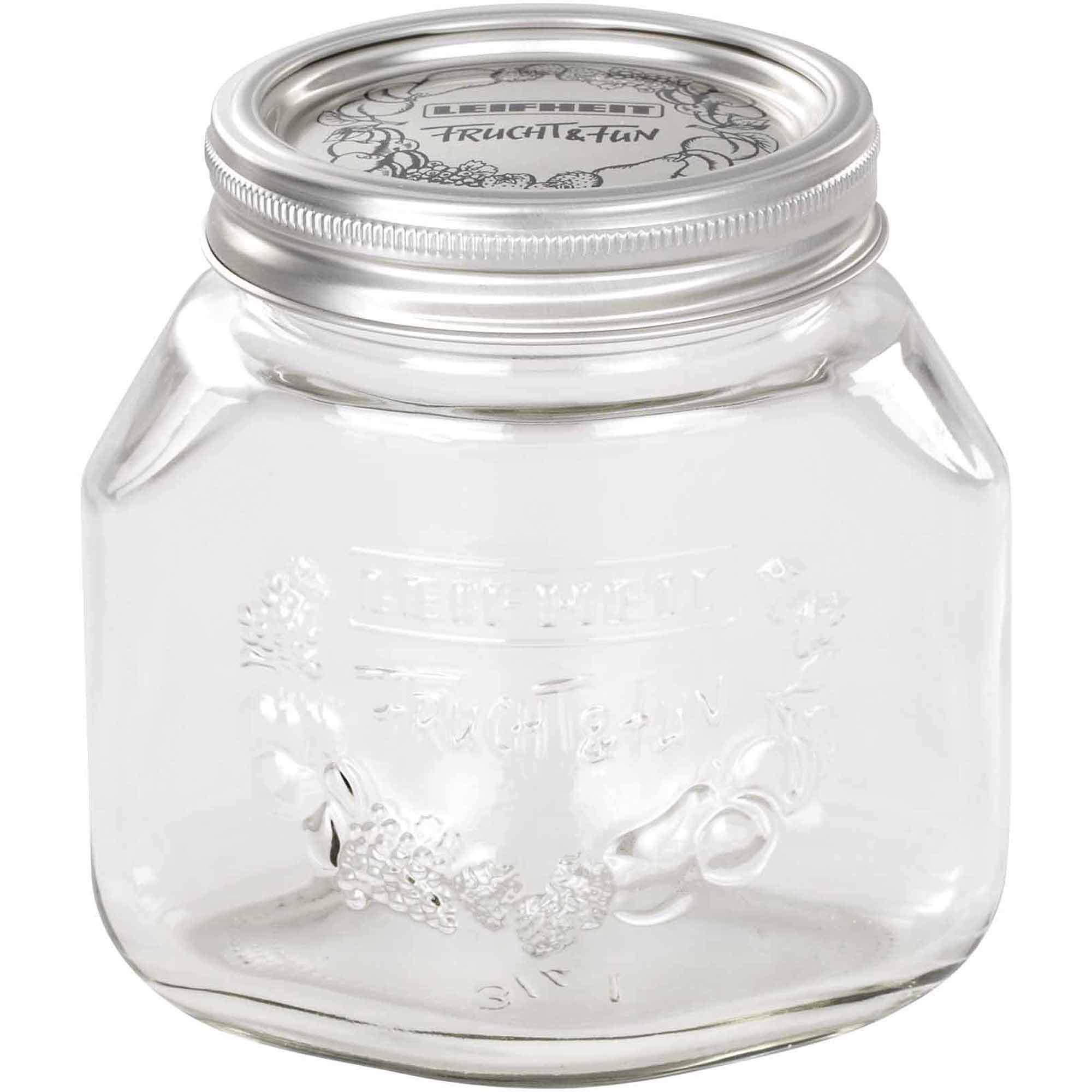 Leifheit Medium 25 oz Glass Wide-Mouth Mason Jar for Canning Set of 6 Transparent - Walmart.com  sc 1 st  Walmart & Leifheit Medium 25 oz Glass Wide-Mouth Mason Jar for Canning Set of ...