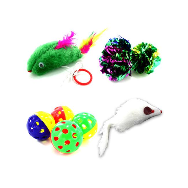 Click here to buy Bulk Buys DI137-72 Cat Toy Assortment in a Poly Bag Pack of 72 by Bulk Buys.