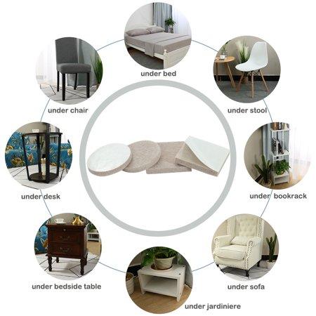 Felt Furniture Pad Self Adhesive Anti-scratch Floor Table Protector Beige 82pcs - image 2 of 8
