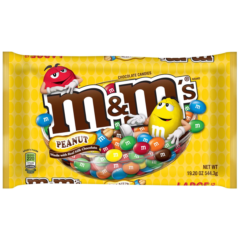 M&M'S Peanut Chocolate Candy Bag, 19.2 oz