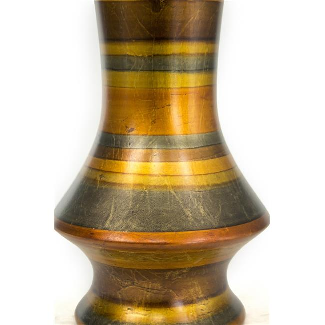 Heather Ann Creations Stripes Collection 20 in. Ceramic Decorative Floor Vase