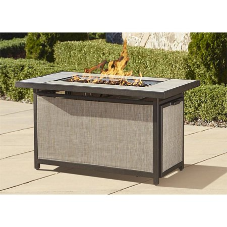 Cosco Outdoor Serene Ridge Aluminum Propane Gas Fire Pit Table With