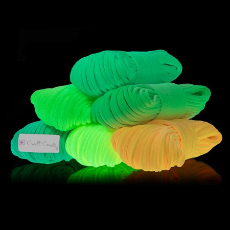 Craft County Luminous Type III 7 Strand Nylon Glow in the Dark 550 Paracord (Parachute Cord) Rope - 10', 25', 50', 100' Hanks - Multiple Colors