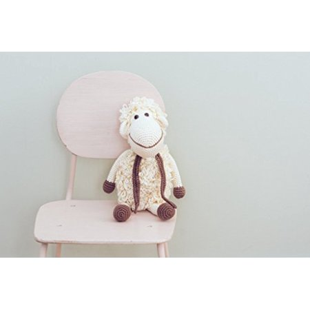 - Organic Soft Baby Toys - Crocheted Sheep -Darla the Lamb