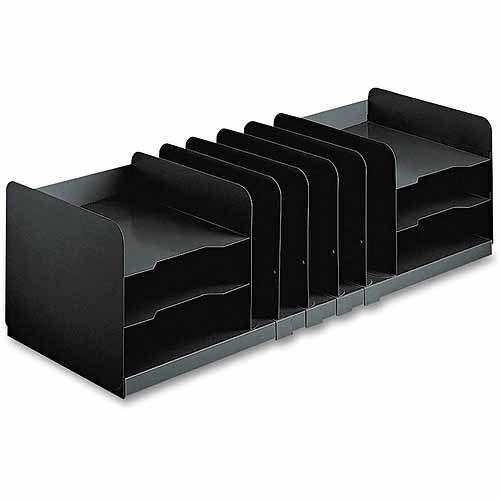 "SteelMaster Adjustable Organizer, 11 Sections, Steel, 30"" x 11"" x 8-1/8"", Black"