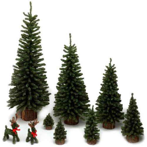 "Vickerman 18"" Mini Pine Artificial Christmas Tree, Unlit"