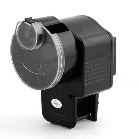 Fish tank automatic vacation fish adjustable food feeder black for Automatic fish feeder walmart