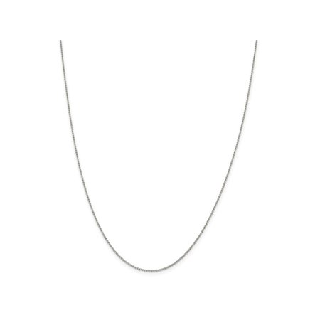 Silver Open Link Chain - 24 Inch Sterling Silver 1 mm Open Link Curb Chain Necklace - 24 Inch