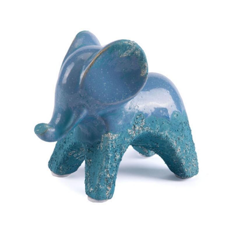 Blue Dining Room Centerpieces Decor Ceramic Elephant Decor Decorative Display