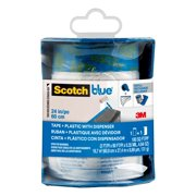 3M ScotchBlue Multi Surface Painter's Tape + Plastic Film with Dispenser, PTD2093EL-24-S