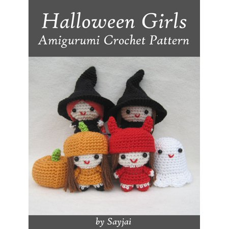 Halloween Girls Amigurumi Crochet Pattern - eBook