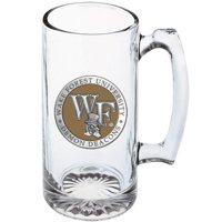 Wake Forest University Super Stein | 25oz | Detailed Fine Pewter Medallion | Glass Beer Stein | 1 Piece