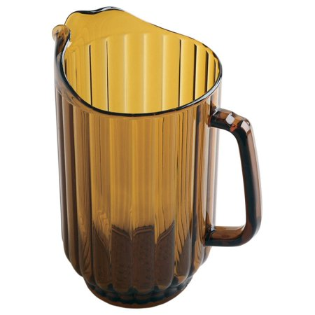 Cambro P600CW 60 oz Capacity, Camwear Amber Polycarbonate - Amber Pitcher