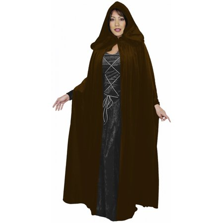 Velvet Cloak Adult Costume Accessory Brown