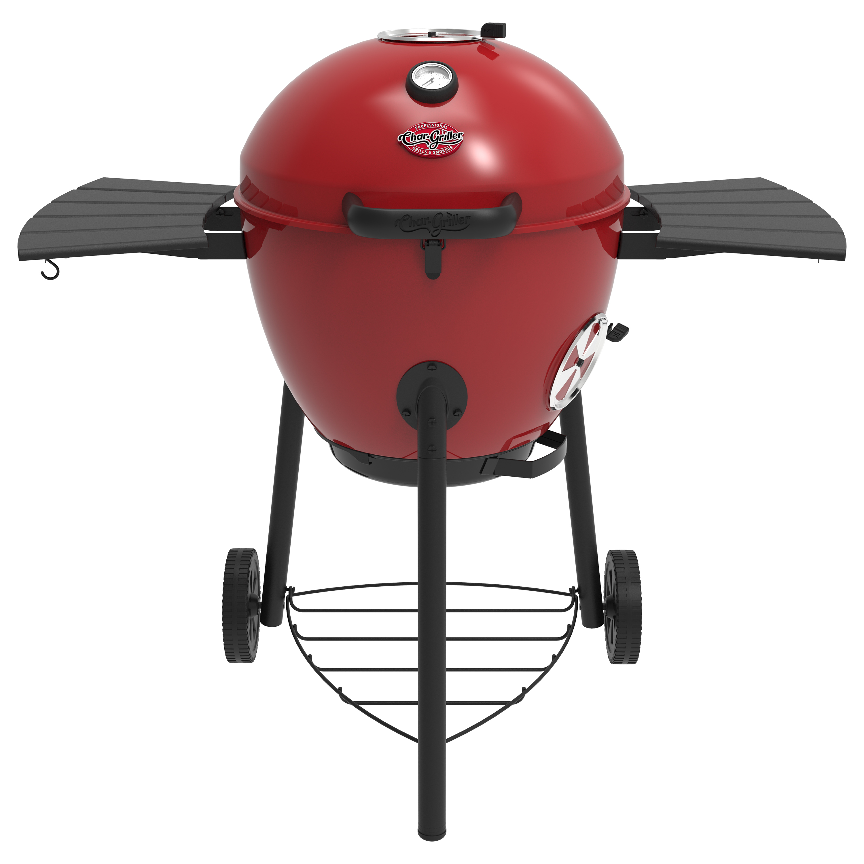Char-Griller Premium Kettle Charcoal Grill, Red, E14822