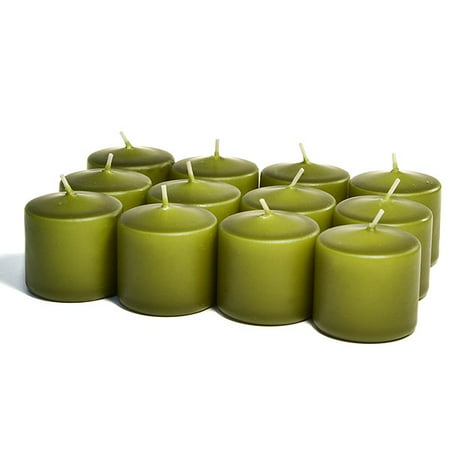 Unscented Sage Votives 15 Hour Votive Candles Pack: 12 per box 1.5 in. diameter x 2.25 in. tall