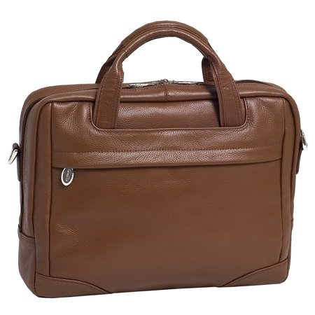 "McKlein Mens MONTCLARE 13.3"" Leather Netbook Laptop Brief"