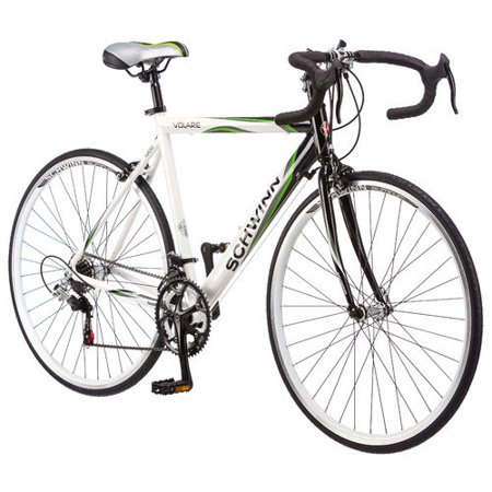 cb0d6a9be02 Schwinn 700c Men's Volare 1300 Drop Bar Road Bike Bicycle -  Black/White/Green - Walmart.com