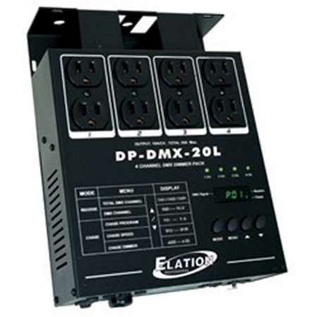 NEW! AMERICAN DJ DP-DMX20L 4 Channel DMX Dimmer Pack 8 Fixtures Light Control