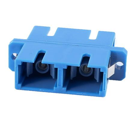 Unique Bargains Blue Black SC/Dup Duplex Flange Fiber Optic Optical Connector