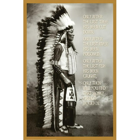 Chief White Cloud (Native American Wisdom) Art Poster Print Poster - 24x36