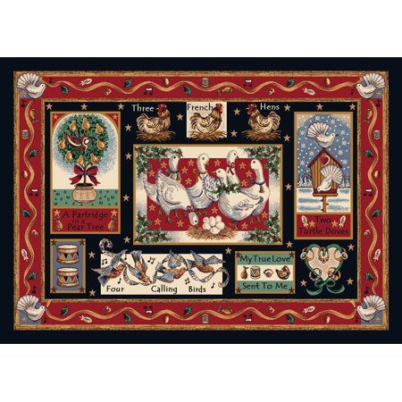 Holiday Collection   Partridge In A Pear Tree Rug