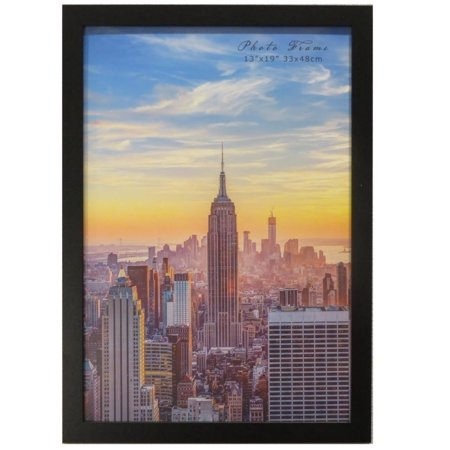 Frame Amo 13x19 Black Wood Picture or Poster Frame, 1 inch Wide Border