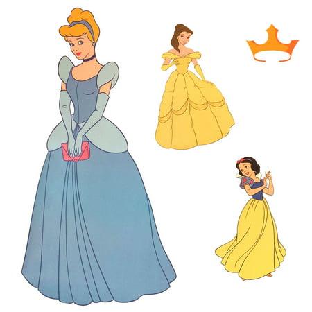 Cinderella Wall Stickers (Store51 Llc 12440408 Disney Cinderella Accent Sticker Princess Friend Wall Decals )