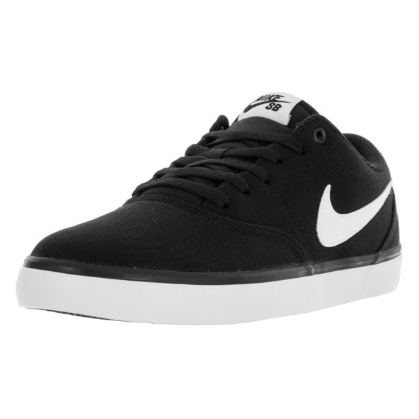 Nike 843896-001: Mens SB Check Solar Canvas Black/white Skate Sneaker