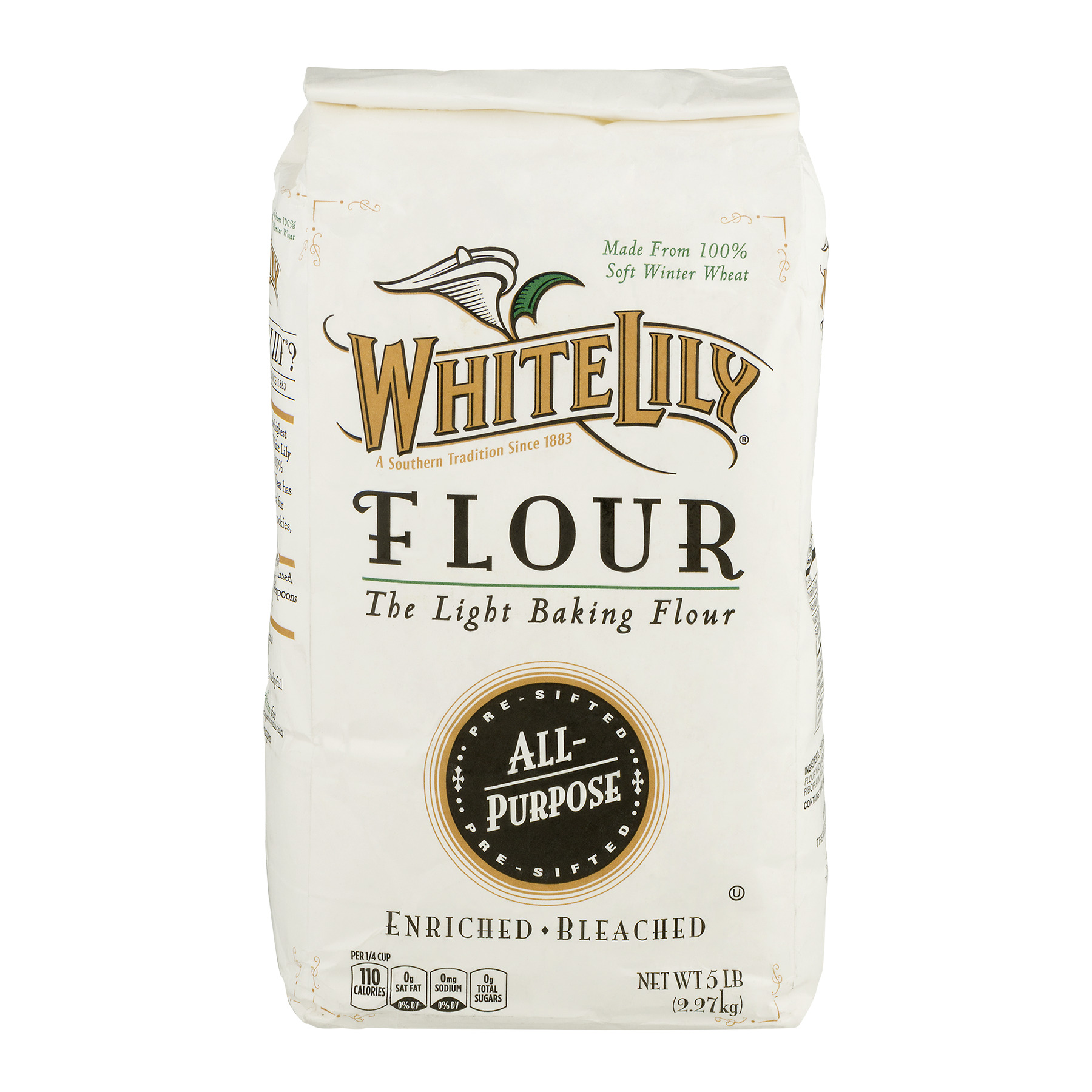 White Lily Flour All Purpose Enriched - Bleached, 5.0 LB