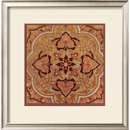 Persian Tiles II Framed Art Print Wall Art  By Paula Scaletta - 18x18.5