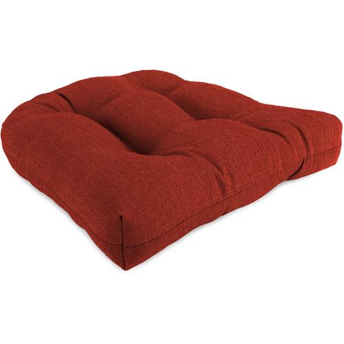 "Jordan Manufacturing 18"" x 18"" x 4"" Outdoor Wicker Chair Cushions, 1-Pack, Husk Texture Brick"