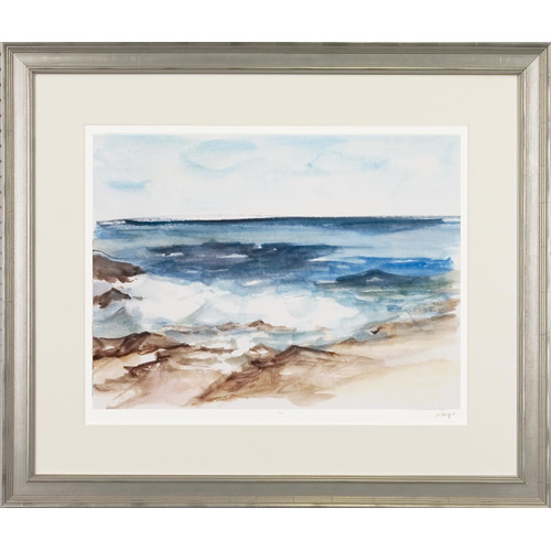 Art Virtuoso Coastal Watercolor by Ethan Harper Framed Painting Print