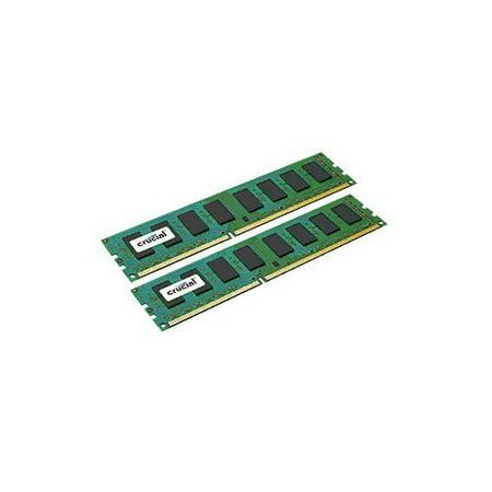 Crucial 8GB kit (4GBx2) DDR3-1600 MT/s (PC3-12800) Non-ECC UDIMM Desktop Memory Upgrade CT2KIT51264BA160B /