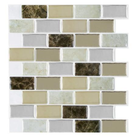 Achim Magic Gel Bronze Granite Self Adhesive Vinyl Backsplash Wall Tile 9.125x9.125 - 1 Tile/0.75 sq (Surface Adhesive Gel)