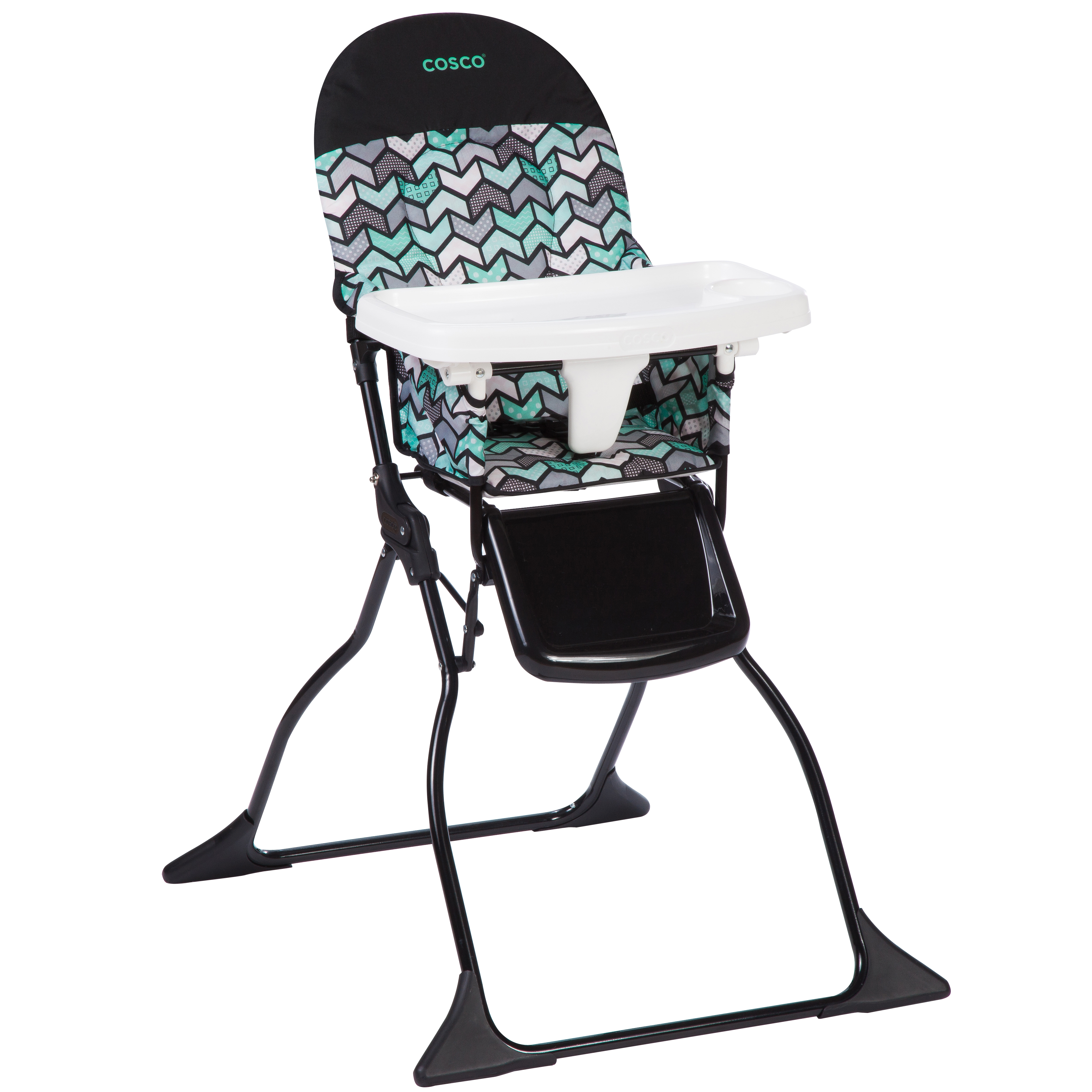 Cosco Simple Fold™ Full Size High Chair with Adjustable Tray, Spritz