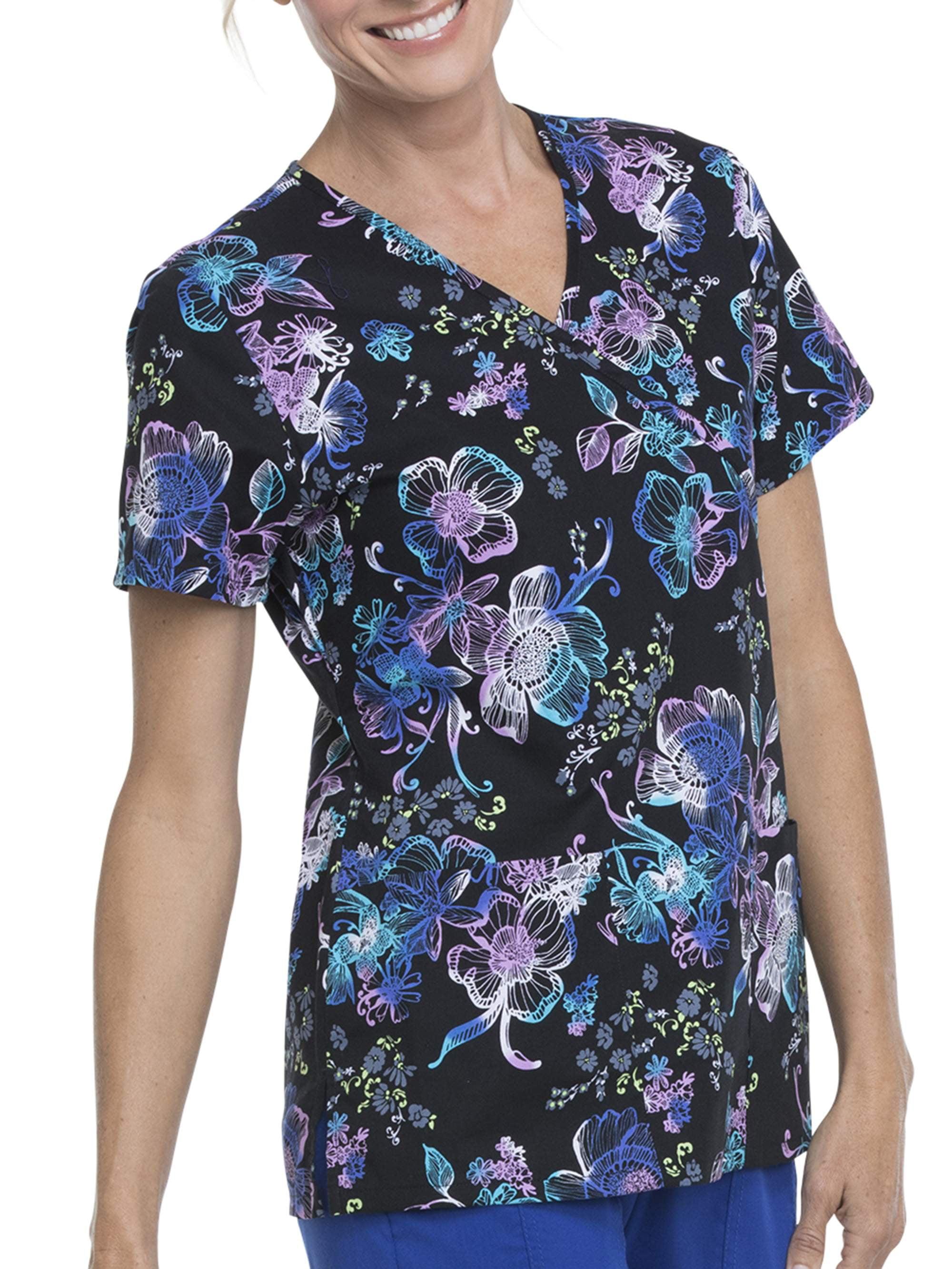 Ladies Branded Spyder Short Sleeves V Neck Top Allure Graphic T Shirt Size 10-16