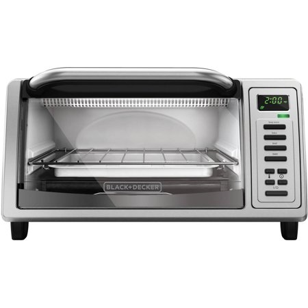 Black & Decker 4- Slice Stainless Steel Toaster Oven by